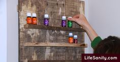 Make Your Own Essential Oil Wall Shelf | Life Sanity