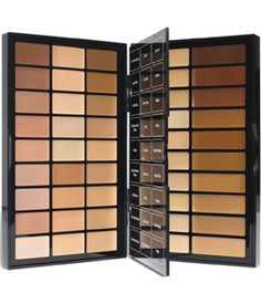 Bobbi Brown Bbu Palette,ideal for photo shoots, weddings and runway shows. Features 13 shades of Bobbi's skin flattering Corrector, 14 shades of Creamy Concealer and 20 shades of Foundation Stick. Make Up Palette, Face Palette, Sleek Palette, Make Up Kits, Corrector Concealer, Makeup Artist Kit, Freelance Makeup Artist, Makeup Artists, Makeup Tutorials