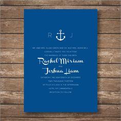 Printable Anchor Wedding Invitation Suite