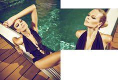 Hot Summer by Dimitri Burtsev, via Fashionple Joan Holloway, Classical Elements, Beachwear Fashion, Great Words, Fashion Shoot, One Piece, Glamour, Hot, Swimwear