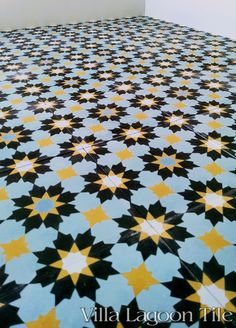 Casablanca cement tile, from Villa Lagoon Tile.