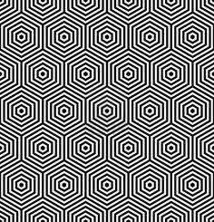 Hexágonos texturas. Patrón geométrico. Vector de arte. Foto de archivo
