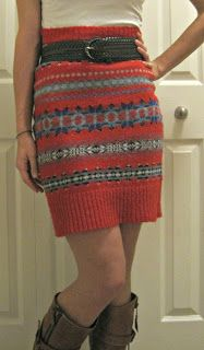 simply step back: Tutorials skirt from a sweater