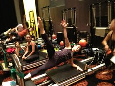 Incorporating the Vinyasa Triangle in Osaka - this accessory expands programming options on the Reformer