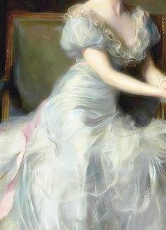 """"""" Portrait of Lady Illingworth, Detail. by Philip Alexius de László, 1934 """""""