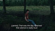 """ That was the day I learned that silence is really loud"" The End of the F World #theendofthefuckingworld #tvshow #subtitles"