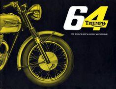 64 Triumph #MotoPosteR Motorcycle Posters, Motorcycle Style, Triumph Bonneville, Vintage Bikes, Vintage Motorcycles, Retro Bike, Motorcycle Manufacturers, Shops, Triumph Motorcycles