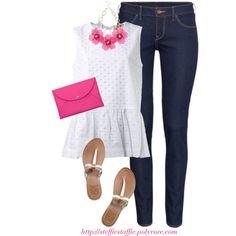 White & Bright Pink