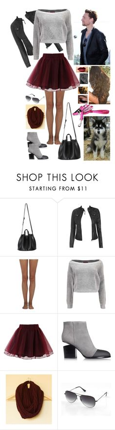 """""""Taking Nova For A Walk With Tom Hiddleston"""" by alyssaclair-winchester ❤ liked on Polyvore featuring Wet Seal, Wolford, Boohoo, Chicwish, Alexander Wang and tomhiddleston"""