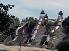 Hungary - super slides at a kids playground!