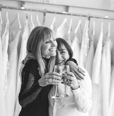 Maria and Jane, celebrating 29 years of Mirror Mirror! Image by Reportage Gallery Elegant Bride, Beautiful Bride, Mirror Mirror Bridal, London Blog, London Bride, London College Of Fashion, Boho Bride, Bridal Boutique, Luxury Wedding