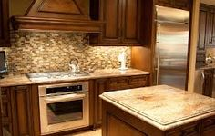 typhoon bordeaux granite full backsplash - Google Search