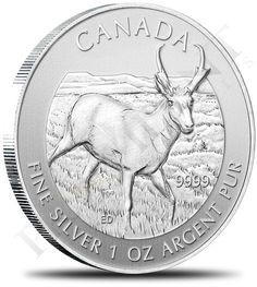 1oz 2013 Canadian Antelope Silver Coin zurametals