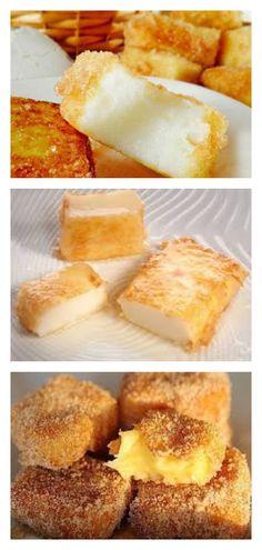 Жареное молоко — вкуснятина необыкновенная. French Toast, Deserts, Food And Drink, Tasty, Sweets, Meals, Cooking, Breakfast, Recipes