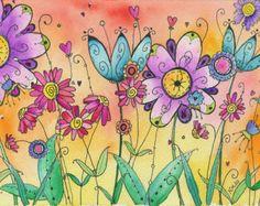 """Fruits and Veggies"" - Moon Cookie Gallery Print by mooncookiegallery. Doodle Drawings, Doodle Art, Watercolor Flowers, Watercolor Paintings, Watercolor Sketch, Zantangle Art, Illustrations, Illustration Art, Moon Cookies"