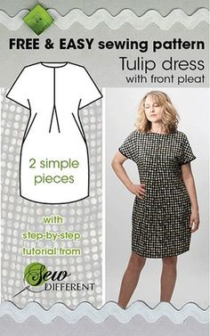 Free Sewing Pattern - Looks like a pretty easy sewing project? More free pattern.Free Sewing Pattern - Looks like a pretty easy sewing project? More free pattern.Home Wall Ideas Easy Sewing Projects, Sewing Projects For Beginners, Sewing Hacks, Sewing Tutorials, Sewing Tips, Sewing Basics, Sewing Ideas, Dress Tutorials, Sewing Crafts