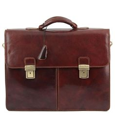 Bolgheri - Tuscany Leather - Leather briefcase 2 compartments - Bags For Business