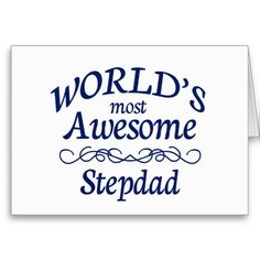 Worlds Most Awesome Stepdad Card