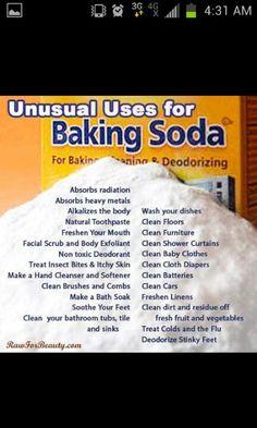Baking soda clean house