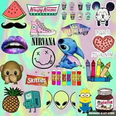 nutella, nirvana, and minions image Cute Wallpaper For Phone, Cute Patterns Wallpaper, Emoji Wallpaper, Tumblr Wallpaper, Disney Wallpaper, Pineapple Emoji, Transparent Wallpaper, Emoji Patterns, Tumblr Backgrounds
