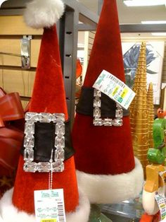 Blinged buckle Santa hat decorations