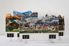 Caterina Rossato's 3D Layered Postcard Landscapes