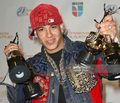Daddy Yankee poses in the press room during Premios Juventud at the Bank United Center on July 19, 2007 in Coral Gables, Florida.