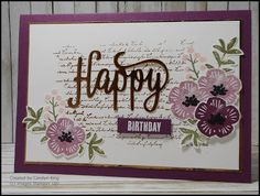 I think Fresh Fig is my new favourite colour (still tossing up between Lemon Lime Twist).         The background for this card was stamped...