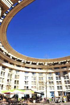 Montpellier.The Quartier Antigone, designed by Ricardo Bofill  \\ France