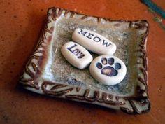Cat Lover Gift Pet Memorial Meow Love Paw by spinningstarstudio, $17.00