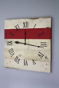 "design inspiration...nautical style Pallet Wood Wall Clock (26"" x 26"")"
