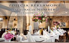 Fotografia Reklamowa Restauracji Kraków na rynku głównym 7. Zdjęcie dekoracji i sali przygotowanej pod wesele.