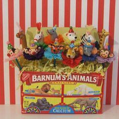 Circus Animal  Party Cupcake Toppers by PartyPopPop on Etsy, $30.00