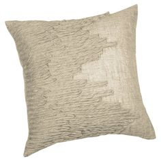 Cotton pillow with an embroidered ribbon design.    Product: Set of 2 pillowsConstruction Material: Cotton blen...