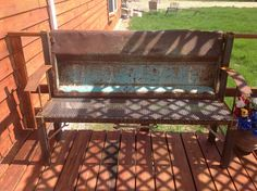 Old Dodge Tailgate Bench!