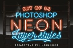 Neon layer styles for Photoshop by MiksKS #photoshop #photoshopactions #addons #photographytips #lightroom #photography #photoediting Photoshop Elements, Photoshop Tutorial, Photoshop Actions, Adobe Photoshop, Lightroom, Photoshop For Photographers, Photoshop Photography, Photography Tutorials, Layer Style