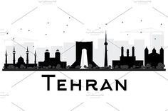 #Tehran #City #skyline #silhouette by Igor Sorokin on @creativemarket