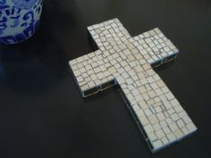 Mosaic  Cross Mirror Handmade by cactuscountry on Etsy, $20.00
