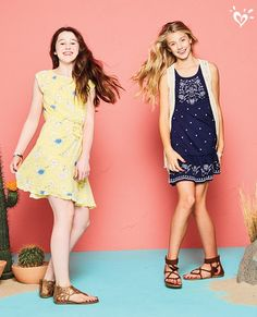 With so many sweet, flowy silhouettes, she'll want to take our print-perfect dresses out for a spin or two.