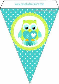 Kit Festa Corujinha Para Imprimir Grátis Owl Parties, Owl Birthday Parties, Classroom Birthday, Owl Bunting, Owl Banner, Owl Clip Art, Kids Planner, Owl Pictures, Paper Banners