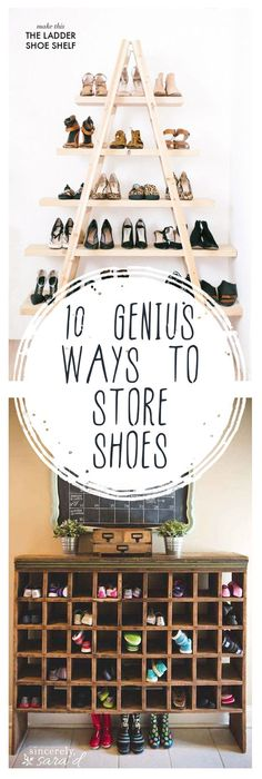 10 Genius Ways to Store Shoes -