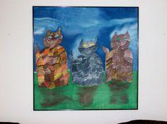 Wall ArtOriginal Painting Fine Art SilkOn The Prowl by MysticSilks