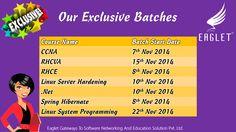 Our Exclusive Batches  #batch #RHCE #CCNA #Dot #NET #RedHat #Server #Hardening #Cisco #Spring #Hibernate #LSP #Linux #System #Programming