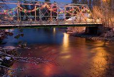 Christmas in Bigfork, Montana Swan River Bridge
