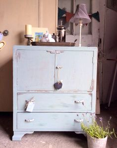 Gorgeous vintage NOW SOLD Art Deco tallboy/crafting cupboard/cabinet/chest by Theoldsummerhouse on Etsy