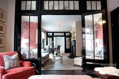 antique mirrored doors and transom...adore!! interior by christina murphy interiors