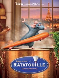 Ratatouille - Loved Remy in his starring role in Ratatouille and the food looked pretty good, too. #ratatouille