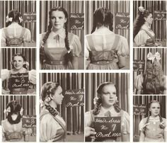 "Post with 28405 views. Judy Garland hair and costume tests for ""The Wizard of Oz"" Judy Garland, Julia Roberts, Classic Hollywood, Old Hollywood, Wizard Of Oz Pictures, Wizard Of Oz 1939, Hair Test, Dorothy Gale, Dorothy Wizard Of Oz"