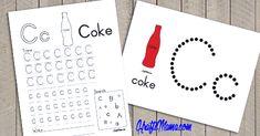 Alphabet Printable C for Coke Free Pre School, Blog Entry, Coke, Homeschooling, Alphabet, Bullet Journal, Printables, Posts, Design