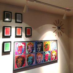yooosukeさんの「アンディウォーホル,スポットライト,IKEA,On Walls,時計」についてのお部屋写真 - RoomClip